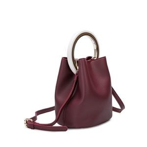 Melie Bianco Gemma Crossbody Bag Burgundy